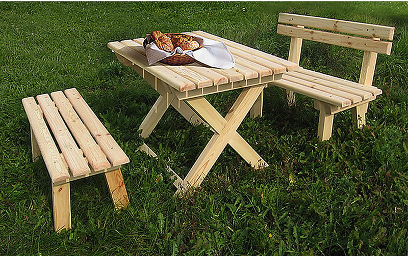 Деревянные столы для дачи своими руками видео