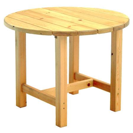 Круглый стол своими руками из дерева в беседку